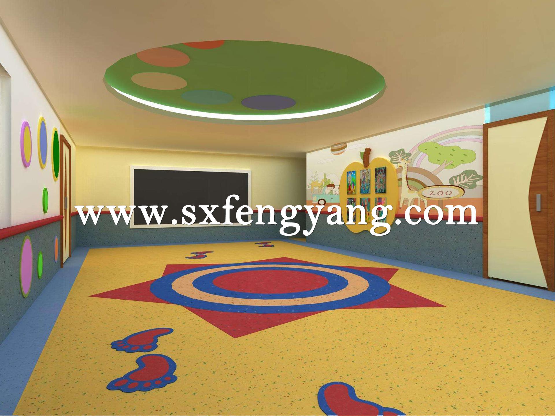 幼儿园抗病毒PVC地板
