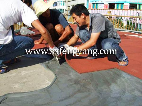 橡胶地砖施工工艺