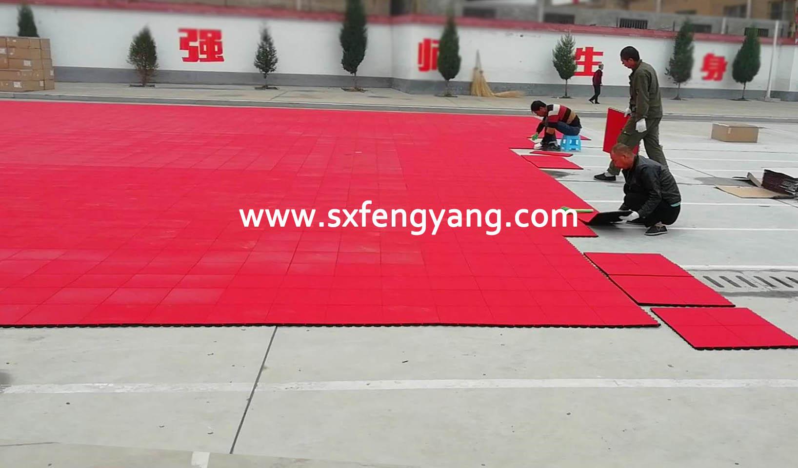 氟橡塑拼装地板施工工艺