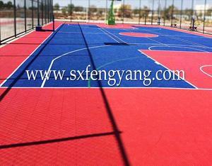 西安曲江南湖小学拼装地板球场项目